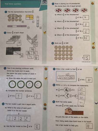 Lots of hard work to understand our fractions.