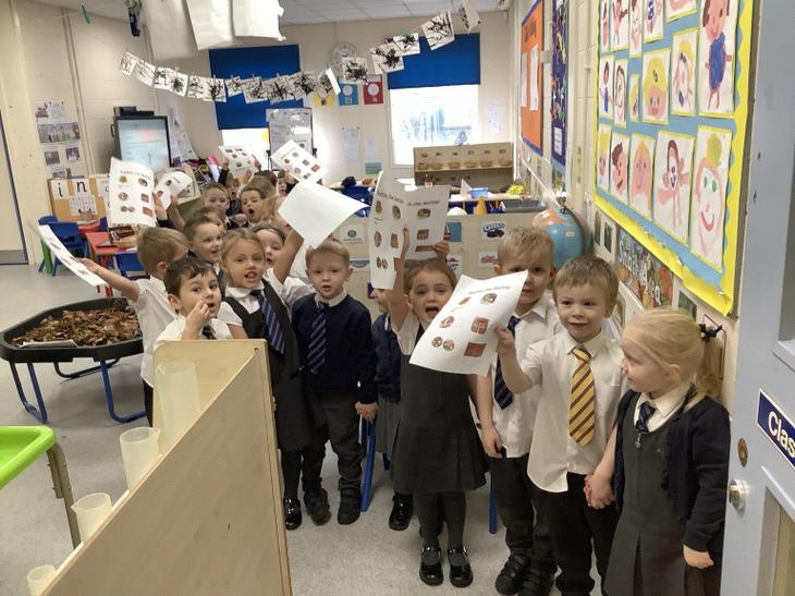 Class 1 loved hunting for The Gruffalo!