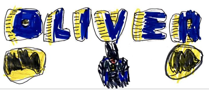 Batman mug logo designed with Hepp DT
