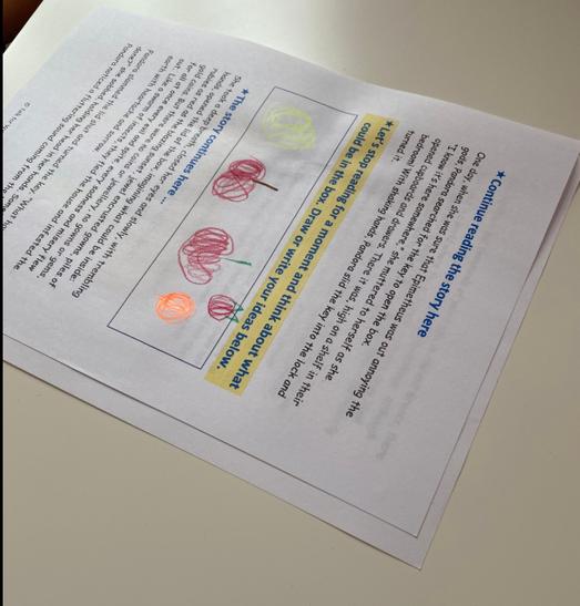 'Pandora's Box' literacy activity.