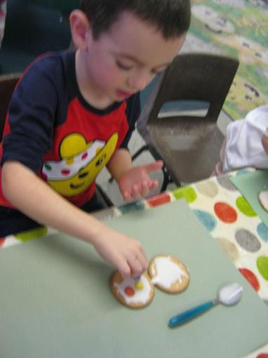 We made spotty biscuits