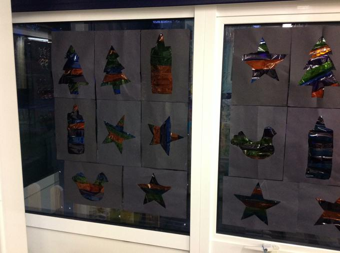 Christmas stained window art