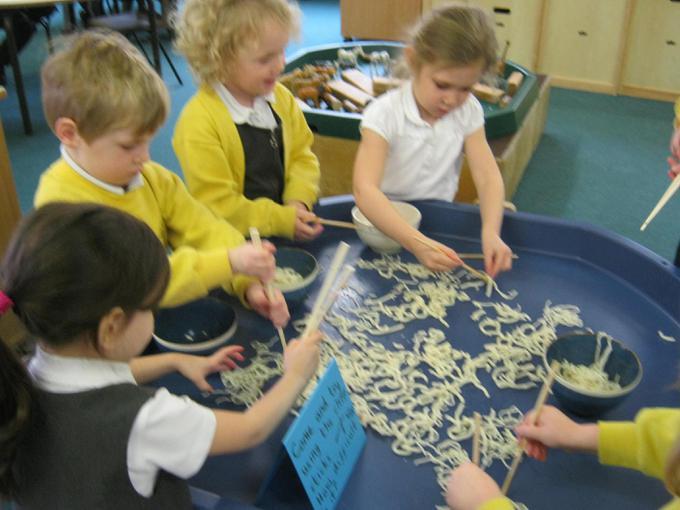 We learned how to use chopsticks