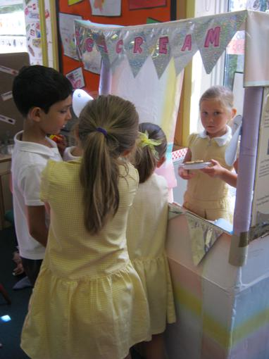 We set up an ice-cream stall