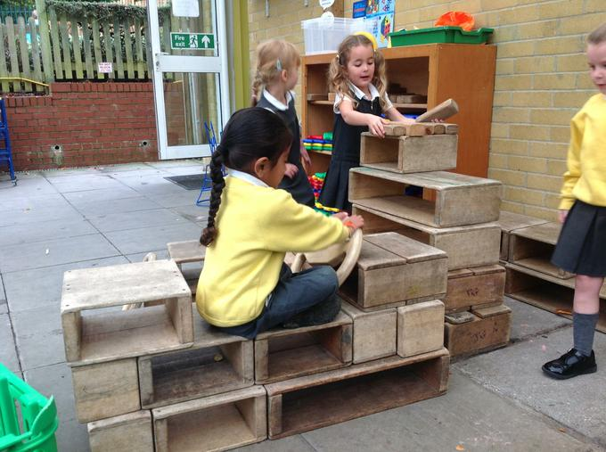 We have enjoyed using the wooden blocks this week