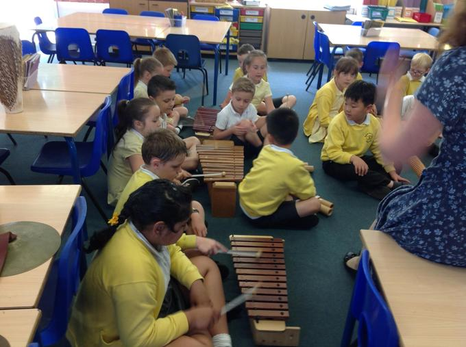Playing a variety of instruments
