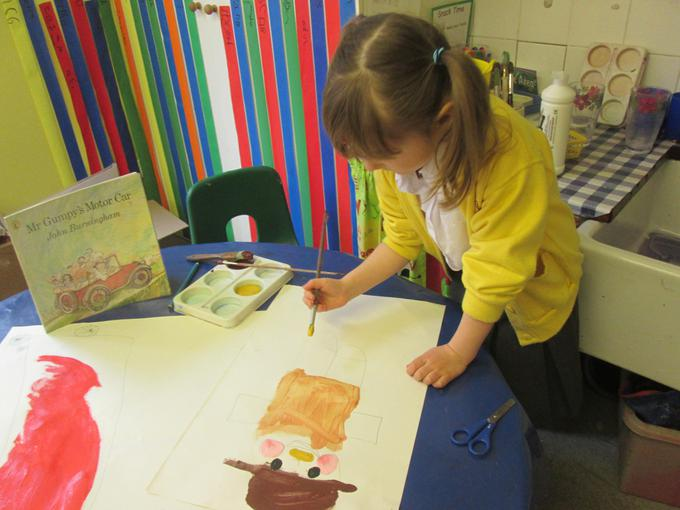 Painting Mr. Gumpy for our display