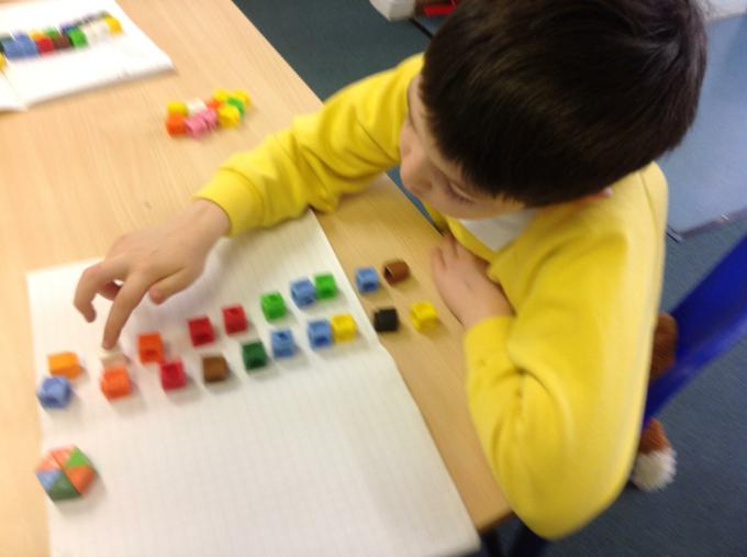 Using arrays to divide