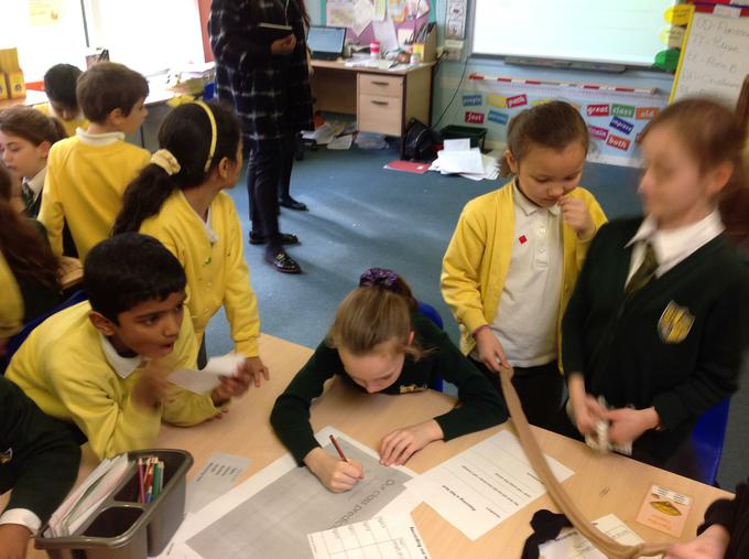 Working with the year 5's