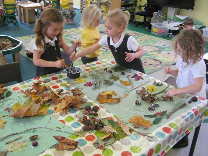 We made a collage with the objects we had found