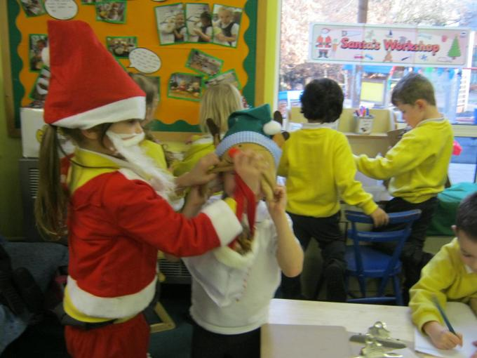 Dressing up in the role play area