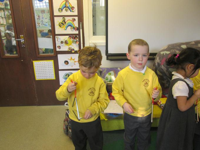 We used instruments in our music lesson