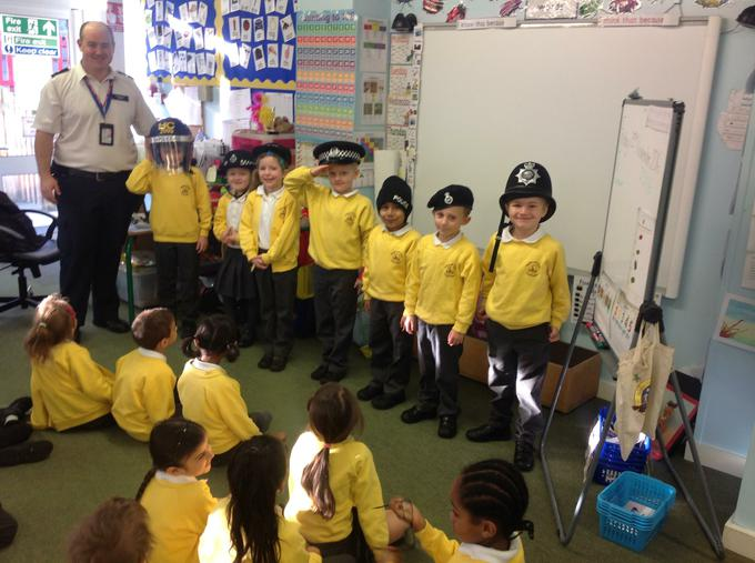 We loved trying on different Police hats