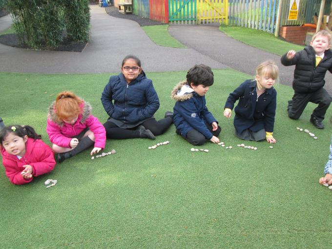 Outdoor maths session