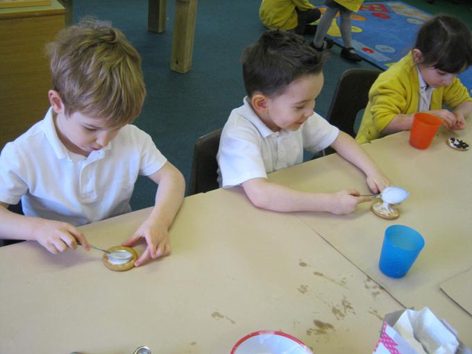 We also decorated some biscuits