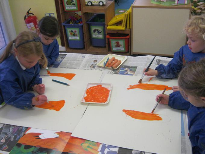 Painting our carrots