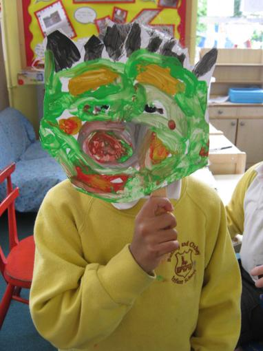 Making masks for our role play