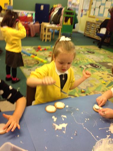 Making our biscuits for Children in Need
