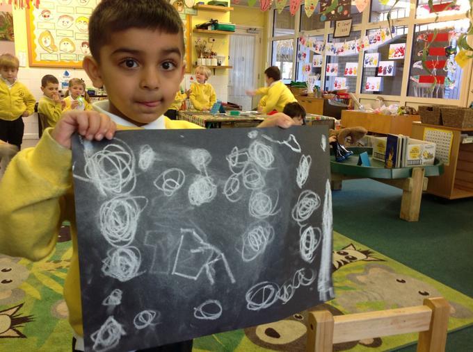 We drew constellation pictures