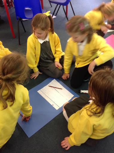 Putting the similes together to make a group poem