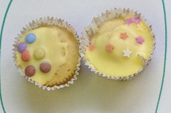 Spots and star cakes to represent Pudsey