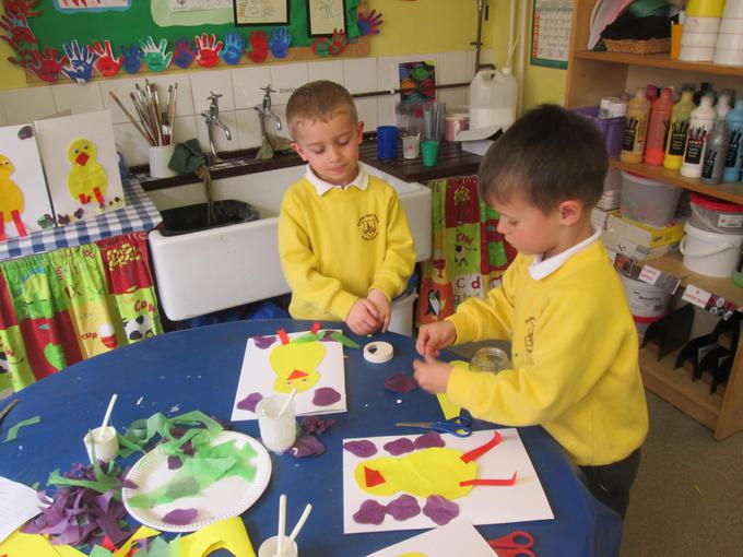 Making our Easter cards
