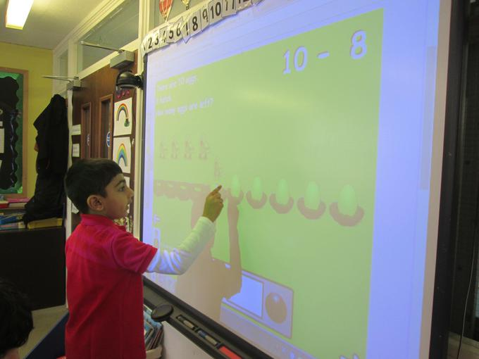 Working out subtraction problems