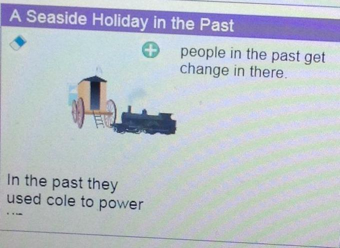 We used a programme on Purple Mash to write report