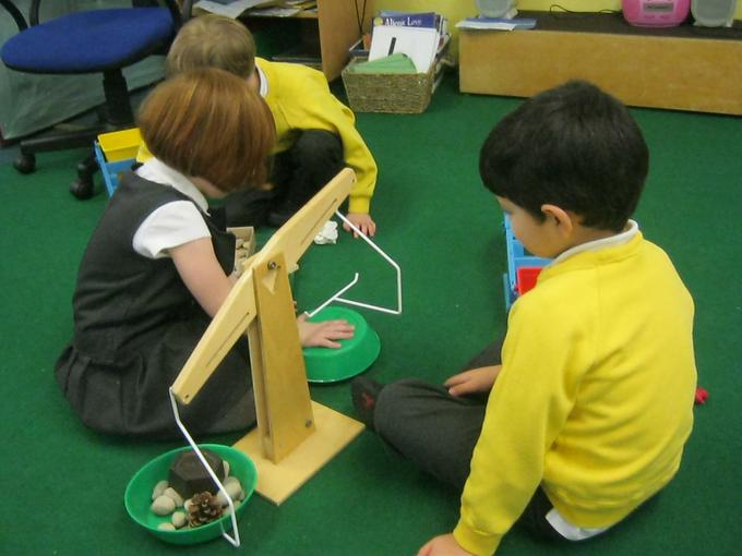 working together to balance the weights