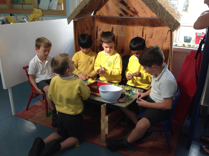 Enjoying our new role play area!