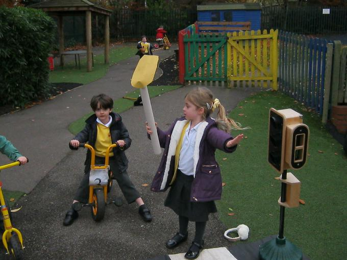 being the Lollipop Lady!