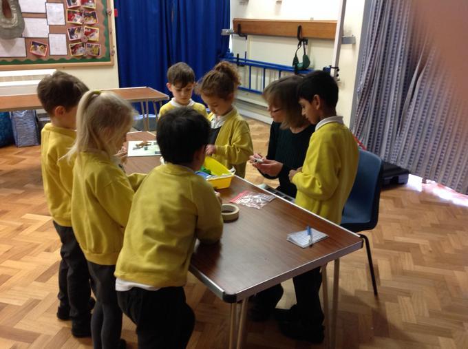 Making our own kaleidoscopes!