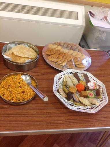 Some of the food the children tasted