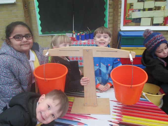 We have been weighing objects
