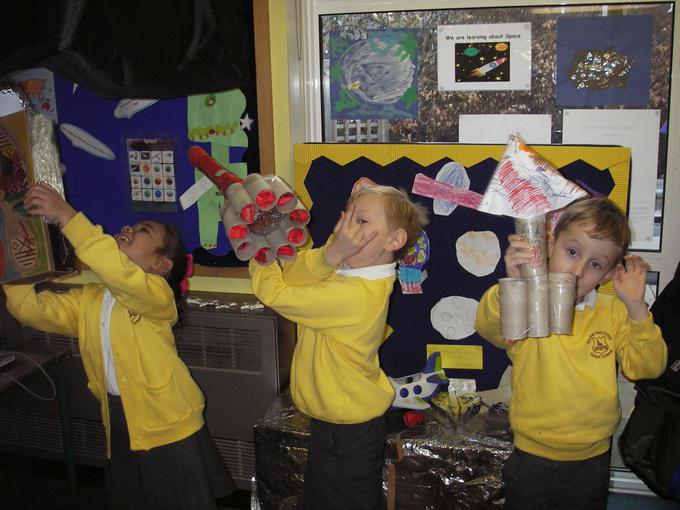 marvellous rockets created in Home Learning