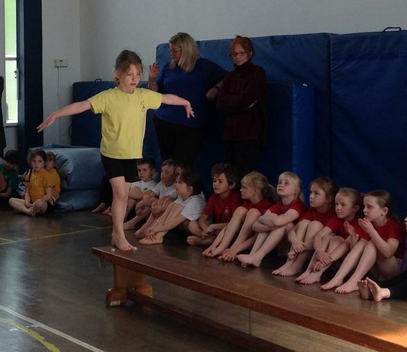 Performing our gymnastics