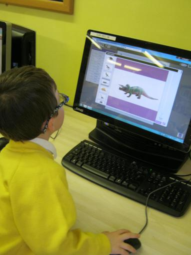 We used ICT to learn about dinosaurs