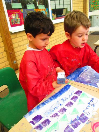 Painting inspired by Monet