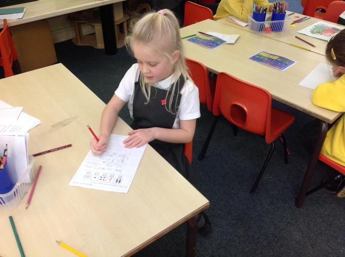 Writing recounts of our visit to the church