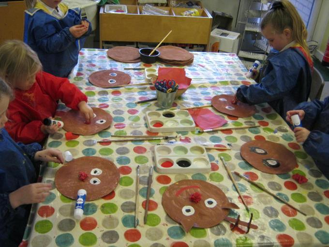 Making our Christmas hoop
