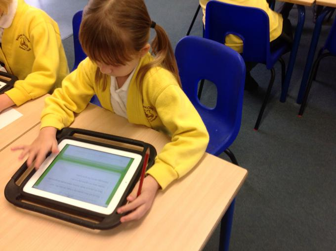 Researching reports using the i-pads