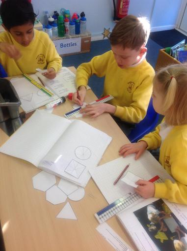Maths investigating symmetry