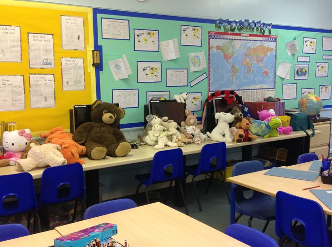All the teddies are ready for their picnic!