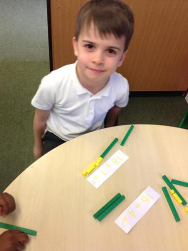 adding a two and one digit number together