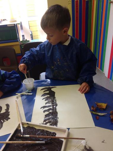 We painted autumn pictures