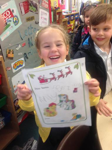 We read The Jolly Postman for literacy