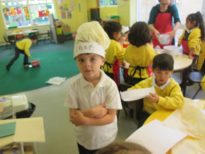 We made our own chef hats