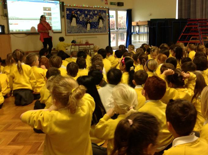 Special Hannukah assembly with Mrs Morris