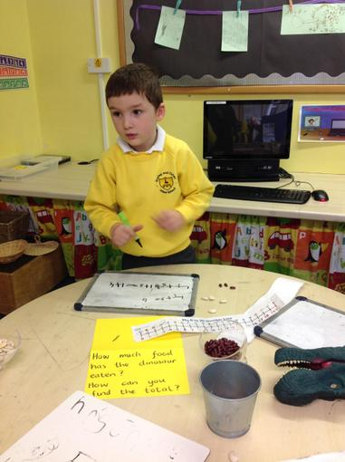 We recorded our work on the maths table