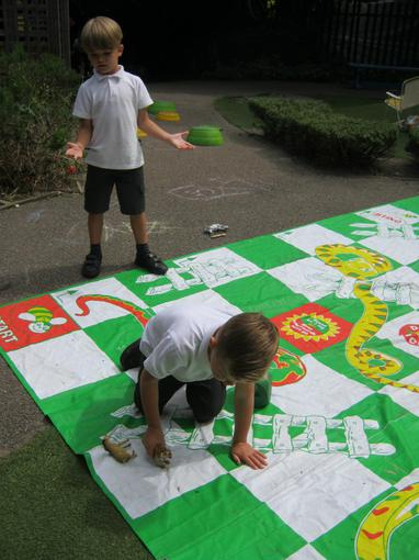 Counting on by playing snakes and ladders